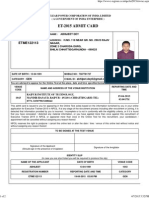 Admit Card for Written Examination