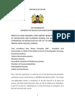 DevCon Speech in Kisumu 21st April 2015