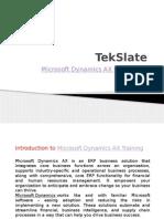 Microsoft Dynamics AX Training