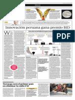 Innovación Peruana Gana Premio BID