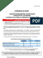 audience médiamétrie_Septembre-Décembre 2009