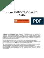 CLAT Institute in South Delhi