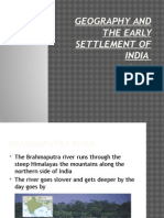 geography and the early settlement of india power