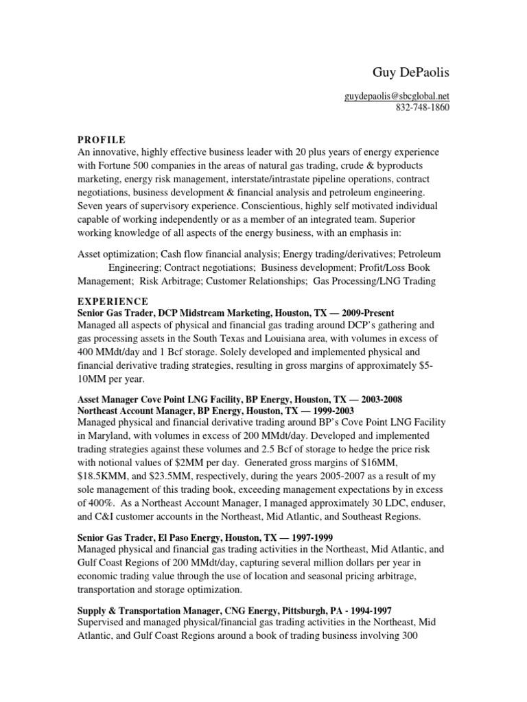 Nice Energy Trader Resume Model - Administrative Officer Cover ...