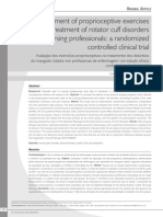 Assessment of Proprioceptive Exercises in the Treatment of Rotator Cuff Disorders in Nursing Profess...