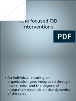 Role Focused OD Interventions