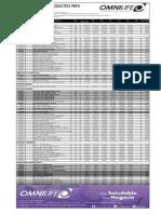 Lista Precios Nutricional OMNILIFE 04Marzo2015