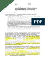Tema 5 II Conocimiento Corporal -Posibilidades y Limitaciones Corporales