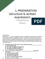 TOEFL PREPARATION (Structure & Written Expression)