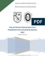 1 Guía de Química General para Curso Propedéutico de la Facultad de Química 2013