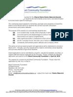 Award Applications Es m Fund Mar 2015