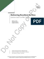 Delivering Excellent Service