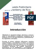 Presupuesto Publicitario Para Cranberry de Rica