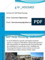 Housing Lecture Notes_06_Self Help Housing