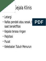 Gejala Klinis Anemia