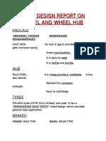 Fdr on Wheel and Wheel Hub