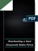 HP - Overhauling a Vast Corporate Sales Force