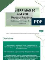 Sage MAS 90 and 200 Roadmap - PUBLIC 2-1-10