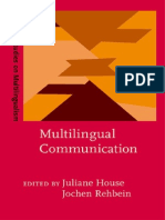 Multilingual Communication Hamburg Studies in Multilingualism