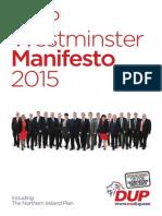 DUP 2015 Westminster Manifesto
