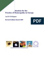 Pravni Okviri Homeopatske Prakse u Zemljama Evrope-izvestaj ECCH