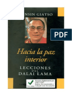 Giatso Tensin - Hacia La Paz Interior Lecciones Del Dalai Lama