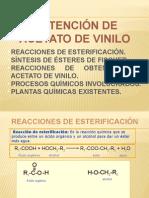 Obtención de Acetato de Vinilo