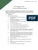 03 DSE Listing Regulations