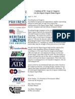 Export-Import Bank Coalition Letter