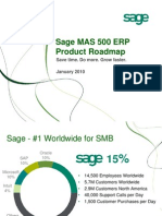 Sage MAS 500 Roadmap PUBLIC - January 2010