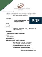 Derecho Procesal Civil i Conocimiento - El Proceso Sumarísimo v Ciclo