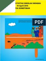 Bahan Kreativitas Sekolah Minggu 19 April 2015 PIA Kumetiran