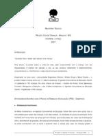 2007 Relatório Técnico Cidade Criança Araçuaí  (FEV-MAR07)