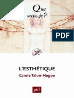 L'Esthetique - Talon-Hugon Carole