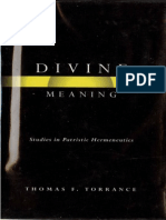 Divine Meaning .Thomas F. Torrance