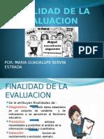 Finalidad de La Evaluacion