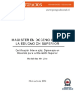 Magíster en Docencia para la Educación Superior 2014 - On Line.pdf