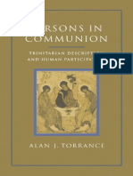 Persons in Communion Trinitarian ,Alan Torrance