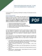 Secretary's Report of Activities of the Association-14-Mar-2010