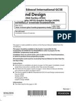 W46289A IGCSE Art and Design 4FA0 01 June 2015