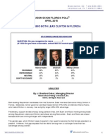 Fl Poll April 20th Release Presidential Clinton Bush Rubio