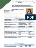 Ficha de Desarrollo Profesional