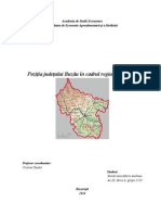 Poziţia judeţului Buzău în cadrul regiunii Sud-Est