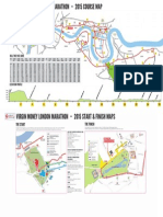 #LondonMarathon Course Map 2015