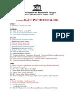 CALENDARIO INSTITUCIONAL 2014