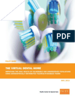VirtualDentalHome OvierviewResults PolicyBrief May 2013