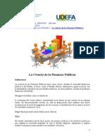 Guía de Estudio Und I. La Ciencia de Las Finanzas Públicas