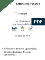 Sistemas operacionais Aula 02 Introducao
