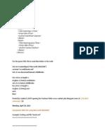 QTP Codes