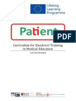 Curriculum for medical handover training